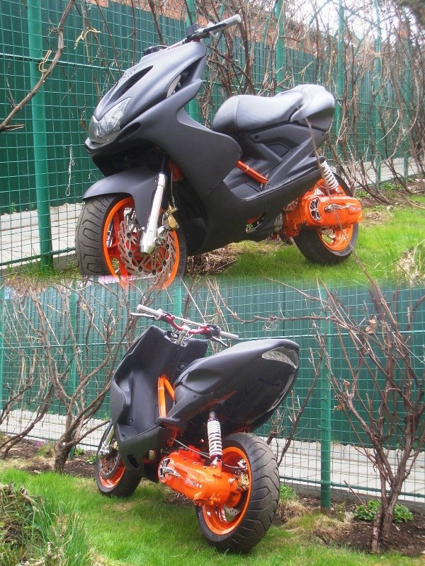 Тюнинг своими руками скутера фото